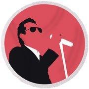 No292 My Marc Anthony Minimal Music Poster Round Beach Towel
