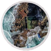 North Curl Curl Headland And Pool Round Beach Towel