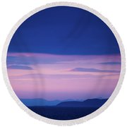 North Wales In The Evening Round Beach Towel