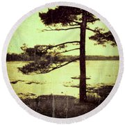 Northern Pine Round Beach Towel