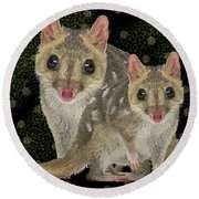 Northern Quoll 3 Round Beach Towel