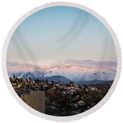 Northshore Winterscape Round Beach Towel