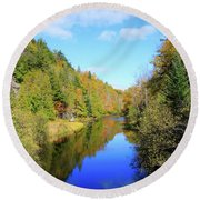 Northwoods Reflection Round Beach Towel