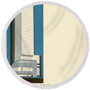 Nothing More Modern The Philadelphia Savings Fund Society Building, 1932 Round Beach Towel