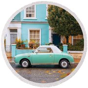 Notting Hill Vibes Round Beach Towel