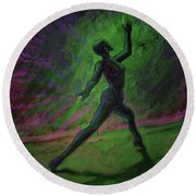 Obscured Dance Round Beach Towel