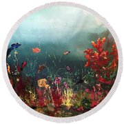 Ocean Beauty Round Beach Towel