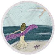 Ocean Dance Round Beach Towel
