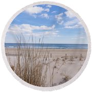 Ocean Dune Round Beach Towel