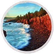 Ocean Energy Round Beach Towel