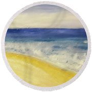 Ocean Flow Round Beach Towel