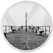 Ocean Grove Pier 1 Round Beach Towel