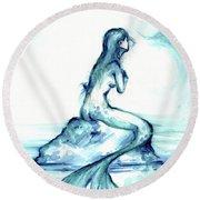 Ocean Watch Round Beach Towel