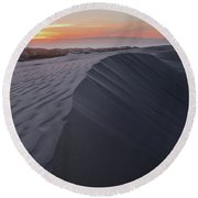 Oceano Dunes Sunset Round Beach Towel