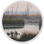 October Reflections Round Beach Towel