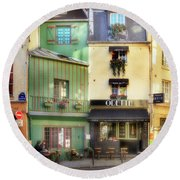 Round Beach Towel featuring the photograph Odette Patisserie by Craig J Satterlee