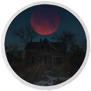 Round Beach Towel featuring the photograph Of Wolf And Man  by Aaron J Groen