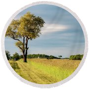Off The Road Round Beach Towel
