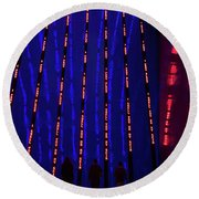 Round Beach Towel featuring the photograph Off To The Data Mines by Alex Lapidus