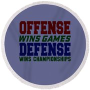 Offence Defense Round Beach Towel