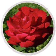Oh The Blood Red Rose Round Beach Towel