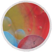 Oil And Color Round Beach Towel