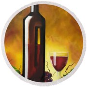 Okanagan Red  Round Beach Towel
