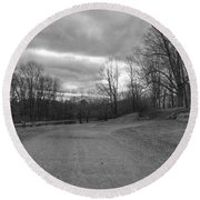 Old Canal Road - Waterloo Village Round Beach Towel