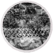 Round Beach Towel featuring the photograph Old Farmhouse by Andreas Levi