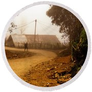 Old Man's Journey - Sapa, Vietnam Round Beach Towel