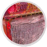 Old Red Round Beach Towel