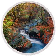 Old River Round Beach Towel