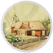 Old Swedes' Church, Southwark, Philadelphia Round Beach Towel