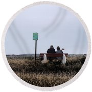 Old Together Round Beach Towel