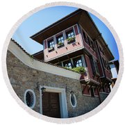 Old Town Plovdiv Round Beach Towel