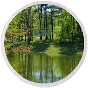 On Golden Pond Round Beach Towel