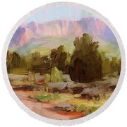 On The Chinle Trail Round Beach Towel