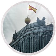 On Top Of The Puerta De Atocha Railway Station Round Beach Towel