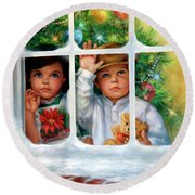 Once Upon A Christmas Round Beach Towel