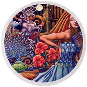Once Upon A Dream... Round Beach Towel