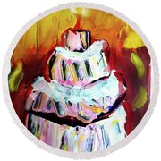 One Candle Round Beach Towel
