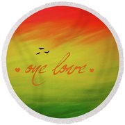 One Love Round Beach Towel