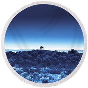 One Tree Hill - Blue - 3 Round Beach Towel