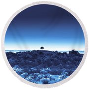 One Tree Hill - Blue - 3 Round Beach Towel