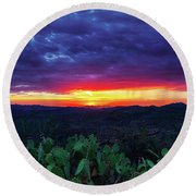 Only A Memory Round Beach Towel