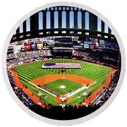 Opening Day Yankee Stadium Round Beach Towel