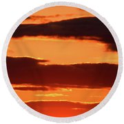 Round Beach Towel featuring the photograph Orange And Black by William Selander