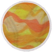 Orange Colors 1 Round Beach Towel