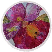 Orchid Passion I Round Beach Towel