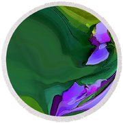 Orchids And Emeralds Round Beach Towel